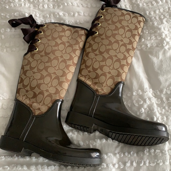 Coach Rain Boots with Bow